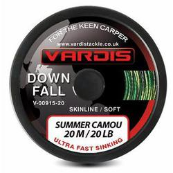 Поводковый материал Vardis Tackle DOWNFALL FS Super Soft Skinline 20m 20lb Summer Camou
