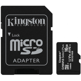 Kingston microSDHC Canvas Select Plus 16GB Class 10 UHS-I + SD adapter (SDCS2/16GB)
