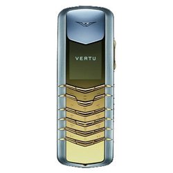 Vertu Signature Stainless Steel with Yellow Metal Details